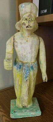 Old Antique Beautiful Hand Carved Wooden TRIBAL Man Figure / Doll / Toy