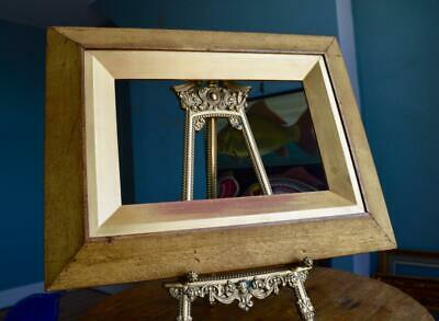 """Superb Antique Victorian Canted Gilt Wood Picture Frame 11""""X7.5"""" Rebate Georgian"""