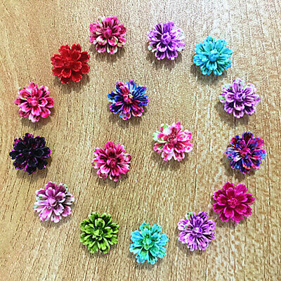 30-60pcs Mix Resin Rose Flower flatback Appliques For phone/wedding/crafts
