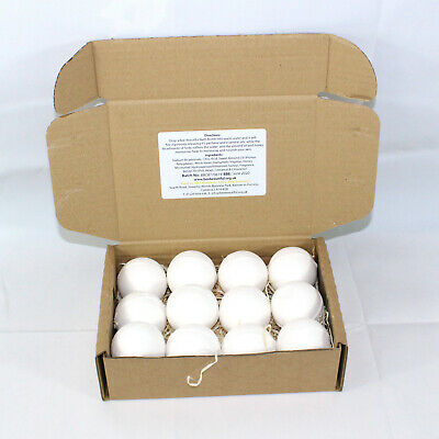 Bath Bombs reduced plastic 12 x 65g rounds Charlie Bear Baby powder scented