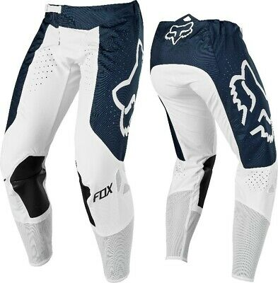 2019 Fox AIRLINE Motocross MX Race OffRoad Pants WHITE NAVY Adults