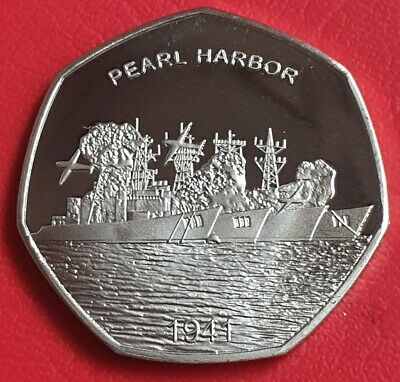 2019 Pearl Harbor Commemorative Coin/50P Fifty Pence Collectors