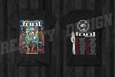 TOOL Band Tour Date 2019 Merch T Shirt Rock Concert Band Music Metal Mens Gildan