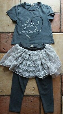 river island mini..girls outfit..leggings..skirt..top