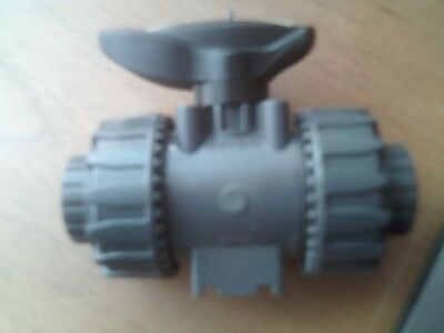 "1/2"" Solvent Weld Pvc-U 1/4 Turn Ball Valve Made By Fip Part No Vkdlv 1/2 Edpm"