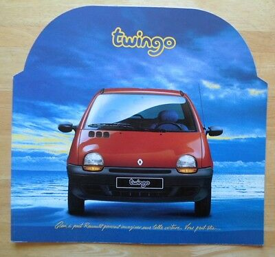 RENAULT TWINGO 1 1992 1993 Very Large Format French Market Launch Sales Brochure