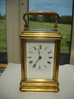 Quality French Carriage Clock By Drocourt In G.w.o.