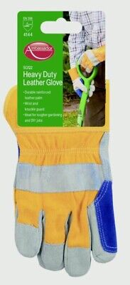 Gloves Deluxe Heavy Duty Leather Glove Ambassador Reinforced Leather Palm NEW