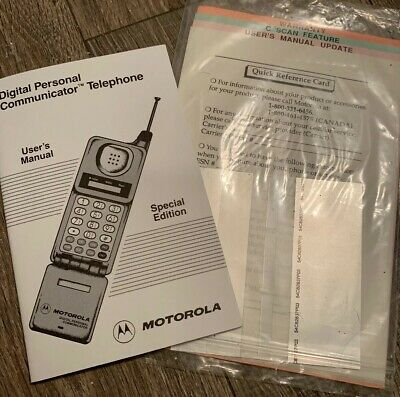 "MOTOROLA VINTAGE DIGITAL PERSONAL COMMUNICATOR TELEPHONE ""Flip Phone"" MANUAL"