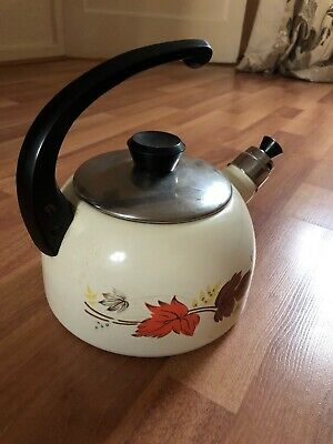 Vintage Camping Kettle Aluminium Regular Size With Floral Design