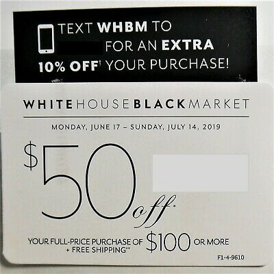 White House Black Market Coupon $50 Off $100 Or More Exp 7-14-19 WHBM