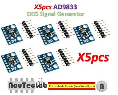 5pcs AD9833 Programmable Microprocessors Serial Interface Sine Square Wave DDS