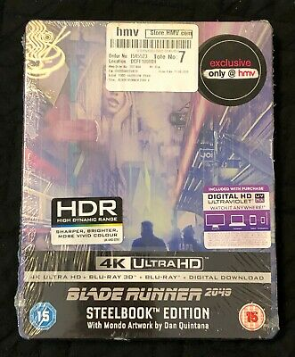 Blade Runner 2049 HMV Mondo SteelBook (4K + 3D + Bluray) **BRAND NEW**