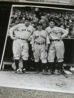Babe Ruth & Lou Gehrig NY Yankees Baseball Original Brace 11x14 Photo *Autograph
