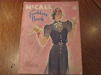 Mccall quarterly fashion book sewing pattern 1930s summer 1937 rare vintage anti