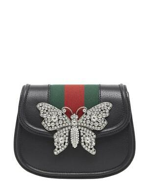 a446f621d New Genuine Gucci Black Crystal Butterfly Small Linea Totem Shoulder Bag