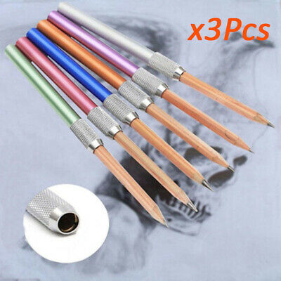 3Pcs Pencil Extender Quality Metal Lengthener Holder Painting Drawing CX