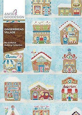 Anita Goodesign GINGERBREAD VILLAGE Embroidery Machine Designs CD