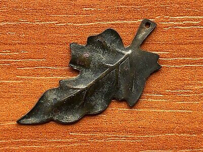 Ancient Byzantine Medieval Bronze Application Leaf Circa 900-1200 AD Very Rare