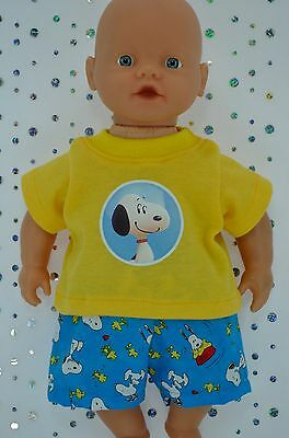 "Play n Wear Doll Clothes For 13"" My Little Baby Born PATTERN SHORTS~T-SHIRT"