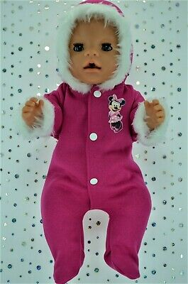 """Play n Wear Dolls Clothes To Fit 17"""" Baby Born HOT PINK SNOWSUIT"""