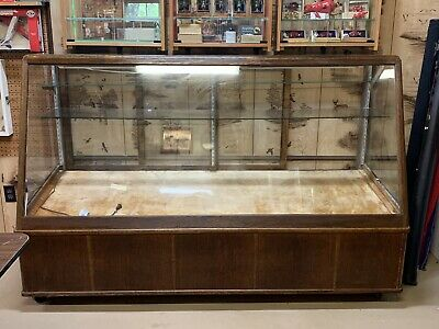 Oak & Glass Vintage Store Front Display Case