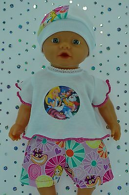 "Play n Wear Doll Clothes For 13"" My Little Baby Born PATTERN SHORTS~T-SHIRT~HAT"