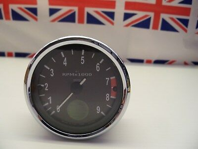 R32 - Genuine Smiths Small Green Spot Rev Counter/Tacho Tachometer - Recondition