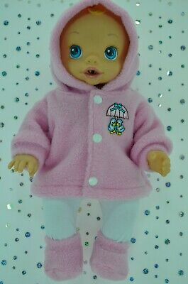 "Play n Wear Doll Clothes For 13"" Baby Alive PINK JACKET~TIGHTS~BOOTIES"