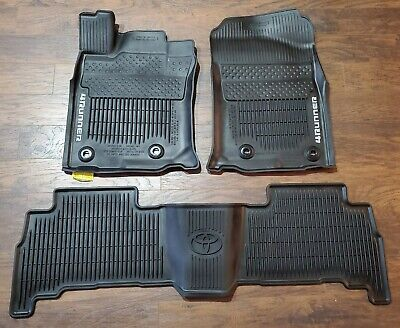 2016-2019 Toyota 4RUNNER All Weather Floor Mats Black OEM