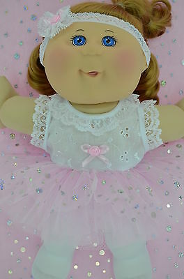 """Play n Wear Doll Clothes To Fit 14"""" Cabbage Patch  PINK TU TU~TIGHTS~HEADBAND"""