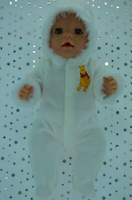 """Play n Wear Dolls Clothes To Fit 17"""" Baby Born CREAM SNOWSUIT"""