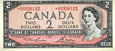 1954 CANADA 2 DOLLAR REPLACEMENT *K/G0356122 (Lawson-Bouey) UNC