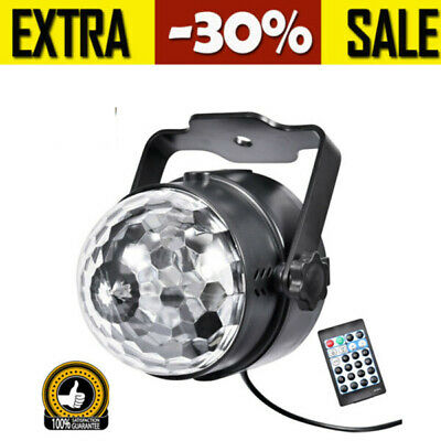 15 Color LED RGB Stage Light Disco Party DJ Effect Lamp Laser Crystal Magic Ball