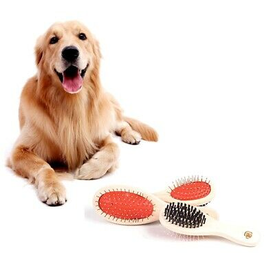 Rosewood Wooden Double Sided Grooming PET Animal Cat Dog Brush S or L Cheap