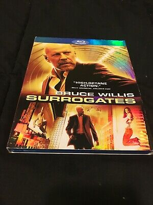 Surrogates (Blu-ray Disc, 2010) Very Good Condition W/ Slipcover- Bruce Willis