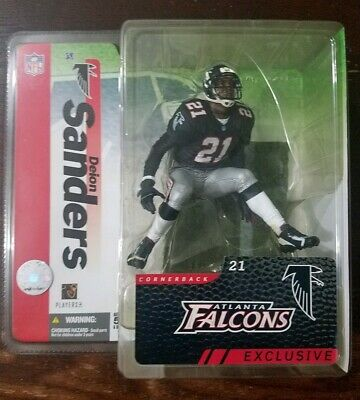 2697f3d6 McFarlane Deion Sanders NFL Football Collector's Club Exclusive Black  Jersey A