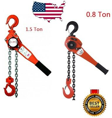 0.8 & 1.5  Ton Lever Block Chain Hoist Ratchet Type Comealong Puller Lifter