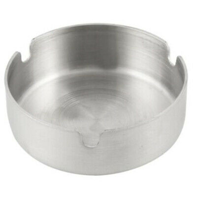 8cm Round Stainless Steel Ashtray Cigarette Tobacco Smoking Ash Holder Case