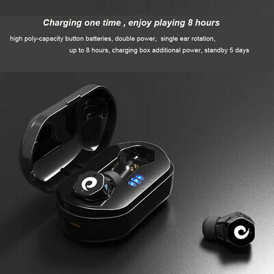 Mini Wireless bluetooth Earbuds W/Mic True Bass Twins Stereo In-Ear Earphone