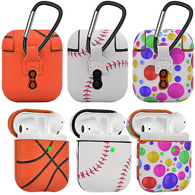 Baseball / Basketball Pattern Case For Apple Airpods Charging Case Earbuds Cover