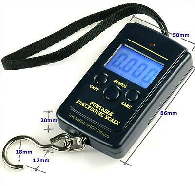 40KG Digital Travel Portable Handheld Weighing Luggage Scales Suitcase Bag LCD A