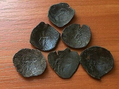 Lot of 6 Ancient Byzantine Medieval Cup Coins Very Rare