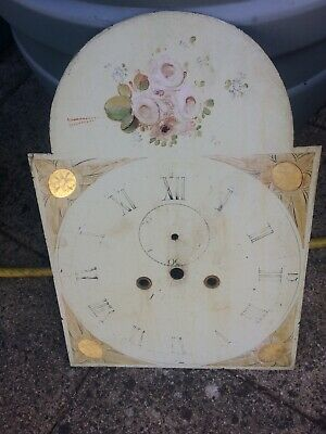 A Longcase grandfather clock 8 day Dial and Movement only for restoration 12x17