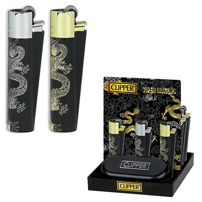 Accendino Clipper Metal Lighter Da Per Collezione Limited Edition Super Dragons