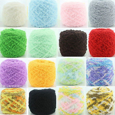 Hot Super Soft Knitting Chunky Towelling Wool Ball Skeins Yarn Coral Velvet 100g
