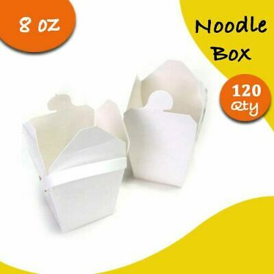 Party Noodle Box White Noodle Boxes Cardboard 8oz 120 pieces