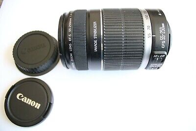 Canon Zoom Lens, EF-S 55-250mm  IS 1:4-5.6, Small Cosmetic Damage.