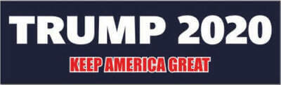 Donald Trump Decal Bumper Sticker For President 2020 Keep Make America Great