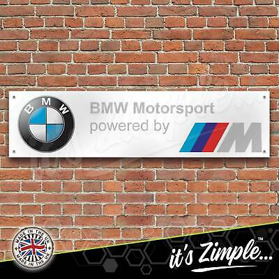 BMW Banner Motorsport M Power Banner Garage Workshop Sign PVC Trackside Display